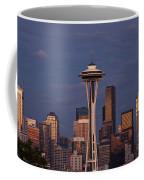 Seattle Skyline And Space Needle With City Lights Coffee Mug
