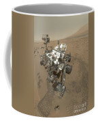 Self-portrait Of Curiosity Rover Coffee Mug by Stocktrek Images