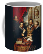 Selfportrait With Brother Philipp Justus Lipsius And Another Scholar Coffee Mug
