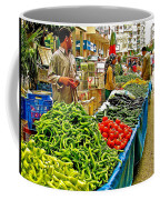 Selling Fresh Vegetables In Antalya Market-turkey Coffee Mug