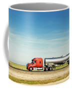 Semi Truck Moving On The Highway Coffee Mug