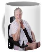 Senior Woman In Wheel Chair Coffee Mug