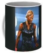 Serena Williams Coffee Mug by Paul Meijering