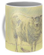 Sheep Sketch Coffee Mug