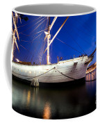 Ship At Night In Stockholm Coffee Mug