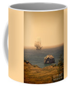 Ship Off The Coast Coffee Mug