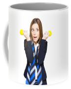 Shocked Woman With Ideas Of Business Innovation Coffee Mug