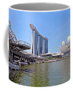 Singapore Artscience Museum Double Helix Bridge And Marina Bay  Coffee Mug