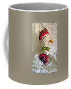 Skiing Snowman Coffee Mug