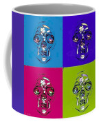 Skulls In Quad Colors Coffee Mug