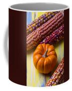 Small Pumpkin And Indian Corn Coffee Mug