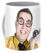 Smiling Man With Bell Coffee Mug
