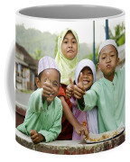 Smiling Muslim Children In Bali Indonesia Coffee Mug