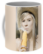 Smoking Hot Corn Cob Woman Coffee Mug