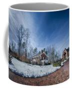 Snow Around Billy Graham Library After Winter Storm Coffee Mug
