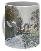 Snow At Argenteuil Coffee Mug by Claude Monet