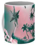 South Beach Miami Tropical Art Deco Wide Palms Coffee Mug