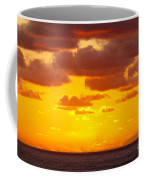 Spectacular Dramatic Orange Sunset Over The Ocean Coffee Mug