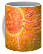 Sperm Traveling Towards Egg With Cellia Coffee Mug