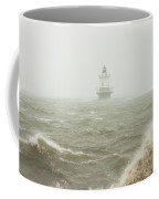 Spring Point Ledge Lighthouse In Storm In Portland Maine Coffee Mug