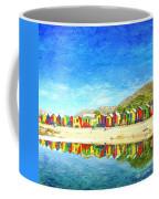 St James Beach Huts South Africa Coffee Mug