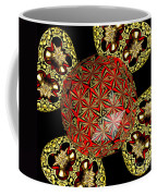 Stained Glass Kaleidoscope Under Glass Coffee Mug