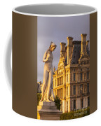 Statue Below Musee Du Louvre Coffee Mug