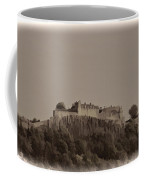Stirling Castle Located At A Height Above The Surrounding Area Coffee Mug