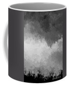 Storm Clouds Over A Cornfield Bw Coffee Mug