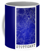Stuttgart Street Map - Stuttgart Germany Road Map Art On Colored Coffee Mug