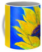 Sunflower In Blue Coffee Mug