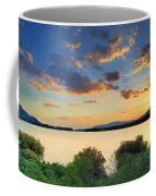 Sunrays At The Lake Coffee Mug