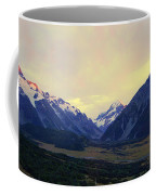 Sunrise On Aoraki Mount Cook In New Zealand Coffee Mug