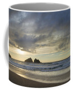 Sunset At Holywell Bay Coffee Mug