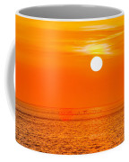 Sunset At Sea With Multiple Color Prizm Coffee Mug