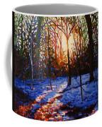 Sunset On Snow Coffee Mug