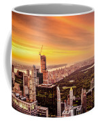 Sunset Over Central Park And The New York City Skyline Coffee Mug