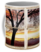 Sunset Tree Silhouette Abstract Picture Window View Coffee Mug by James BO  Insogna