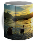 Swans In Sunset Coffee Mug