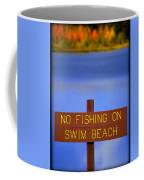 Swim Beach Sign II Coffee Mug