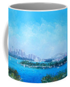 Sydney Harbour And The Opera House Cityscape View Coffee Mug