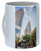 Tall Highrise Buildings In Uptown Charlotte Near Blumenthal Perf Coffee Mug
