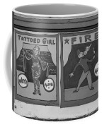 Tattoos And Fire In Black And White Coffee Mug
