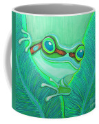 Teal Frog Coffee Mug