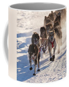 Team Of Sleigh Dogs Pulling Coffee Mug