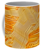 Technology Abstract Background Coffee Mug by Michal Boubin