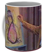 Ted Degrazia Drawing An Angel On Camera Kvoa Tv Screen Capture Christmas 1967 Coffee Mug