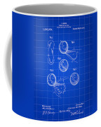 Tennis Ball Patent 1914 - Blue Coffee Mug