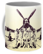 Test Pilots With P-47 Thunderbolt Fighter Coffee Mug