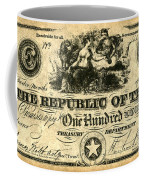 Texas Banknote, 1839 Coffee Mug